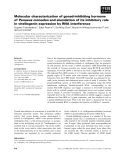 Báo cáo khoa học: Molecular characterization of gonad-inhibiting hormone of Penaeus monodon and elucidation of its inhibitory role in vitellogenin expression by RNA interference