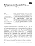 Báo cáo khoa học: Requirements for chromatin reassembly during transcriptional downregulation of a heat shock gene in Saccharomyces cerevisiae