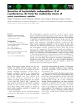 Báo cáo khoa học: Secretion of bacteriolytic endopeptidase L5 of Lysobacter sp. XL1 into the medium by means of outer membrane vesicles