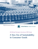 UN Global Compact-Accenture CEO Study  A New Era of Sustainability  in Consumer Goods