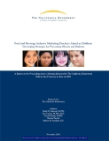 FOOD AND BEVERAGE INDUSTRY MARKETING PRACTICES AIMED AT CHILDREN: DEVELOPING STRATEGIES FOR PREVENTING OBESITY AND DIABETES