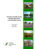 Provision of Public Goods  through Agriculture   in the European Union