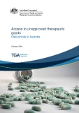 Access to unapproved therapeutic  goods   Clinical trials in Australia