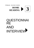 HOME READING 3 QUESTIONNAIRE AND INTERVIEW