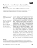 Báo cáo khoa học: Cyclosporin A-induced oxidative stress is not the consequence of an increase in mitochondrial membrane potential