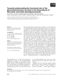 Báo cáo khoa học: Towards understanding the functional role of the glycosyltransferases involved in the biosynthesis of Moraxella catarrhalis lipooligosaccharide