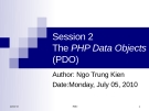 Session 2The PHP Data Objects (PDO)