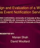 Design and Evaluation of a Wide-Area Event Notification Service