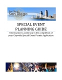 SPECIAL EVENT  PLANNING GUIDE: Information to assist you in the completion of  your Citywide Special Event Permit Application