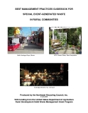 BEST MANAGEMENT PRACTICES GUIDEBOOK FOR  SPECIAL EVENT-GENERATED WASTE  IN RURAL COMMUNITIES