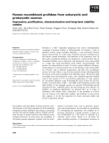 Báo cáo khoa học: Human recombinant prolidase from eukaryotic and prokaryotic sources Expression, purification, characterization and long-term stability studies