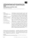 Báo cáo khoa học: 7,8-Diaminoperlargonic acid aminotransferase from Mycobacterium tuberculosis, a potential therapeutic target Characterization and inhibition studies