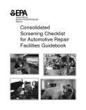 Consolidated Screening Checklist for Automotive Repair Facilities Guidebook