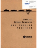 HISTORY CHRYSLER CORPORATION'S GAS TURBINE VEHICLES