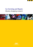Car Servicing and Repairs Mystery shopping research