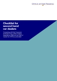 Checklist for   second hand   car dealers