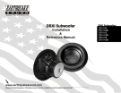 DBXi Subwoofer Installation & Reference Manual