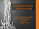 Mangeengine Opmanager