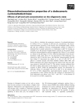 Báo cáo khoa học: Dissociation/association properties of a dodecameric cyclomaltodextrinase Effects of pH and salt concentration on the oligomeric state