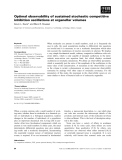 Báo cáo khoa học: Optimal observability of sustained stochastic competitive inhibition oscillations at organellar volumes