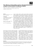 Báo cáo khoa học: The influence of heterodimer partner ultraspiracle/retinoid X receptor on the function of ecdysone receptor