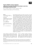 Báo cáo khoa học: Yeast oxidative stress response Influences of cytosolic thioredoxin peroxidase I and of the mitochondrial functional state
