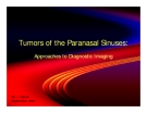 TUMORS OF THE PARANASAL SINUSES: APPROACHES TO DIAGNOSTIC IMAGING