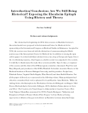 Introduction/Conclusion: Are We Still Being  Historical? Exposing the Ehenheim Epitaph  Using History and Theory