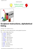 Sculpture Instructions, alphabetical listing
