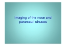 Imaging of the nose and paranasal sinuses