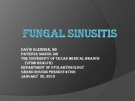 FUNGGAL SINUSITIS