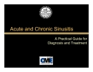 Acute and Chronic Sinusitis - A Practical Guide for Diagnosis and Treatment