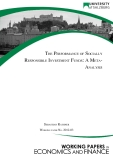 THE PERFORMANCE OF SOCIALLY RESPONSIBLE INVESTMENT FUNDS: A META­ ANALYSIS