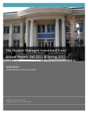 THE STUDENT MANAGED INVESTMENT FUND ANNUAL REPORT: FALL 2011 & SPRING 2012