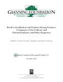Retail Consolidation and Produce Buying Practices: A Summary of the Evidence and Potential Industry and Policy Responses