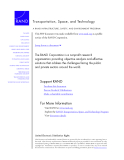 A RAND INFRASTRUCTURE, SAFETY, AND ENVIRONMENT PROGRAM Transportation, Space, and Technology