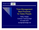 Time Management  Best Practices for Sales People