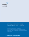 LTCI PLANNING AND SALES TECHNIQUES FACT FINDERS