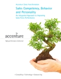 Accenture Sales Transformation Sales Competency, Behavior and Personality