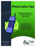Phone Sales Tips - Making the Telephone a  Tool that Brings You  Sales Success