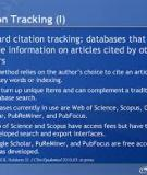 Citation analysis of database publications