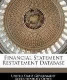Financial Statement Restatement Database