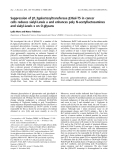 Báo cáo khóa học: Suppression of b1,3galactosyltransferase b3Gal-T5 in cancer cells reduces sialyl-Lewis a and enhances poly N-acetyllactosamines and sialyl-Lewis x on O-glycans Lydia Mare and Marco Trinchera