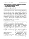 Báo cáo khóa học: Stimulation-dependent recruitment of cytosolic phospholipase A2-a to EA.hy.926 endothelial cell membranes leads to calcium-independent association