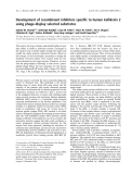 Báo cáo khóa học: Development of recombinant inhibitors specific to human kallikrein 2 using phage-display selected substrates