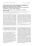 Báo cáo khoa học: Characterization of the cofactor-independent phosphoglycerate mutase from Leishmania mexicana mexicana