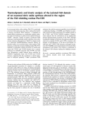 Báo cáo khoa học: Thermodynamic and kinetic analysis of the isolated FAD domain of rat neuronal nitric oxide synthase altered in the region of the FAD shielding residue Phe1395