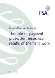 The sale of payment  protection insurance – results of thematic work