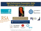 HIGH PERFORMANCE PRESENTATION SKILLS DO THESE RIGHT AND YOU WILL NOT FAIL!
