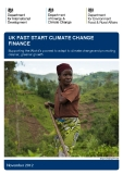UK FAST START CLIMATE CHANGE  FINANCE - 2012